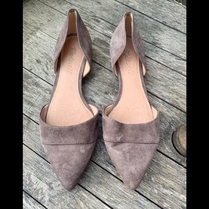 Madewell suede the D'orsey flat size 6